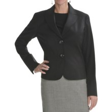 Lafayette 148 New York Gladstone Jacket - Stretch Wool (For Women) in Black - Closeouts