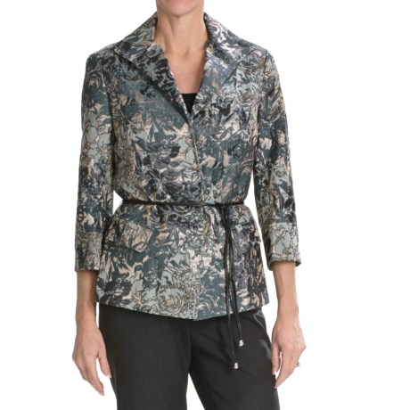 Lafayette 148 New York Helena Jacket - 3/4 Sleeve (For Women) in Windsor Multi