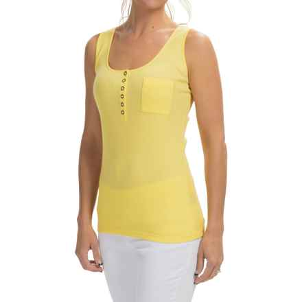 Lafayette 148 New York Henley Tank Top (For Women) in Buttercup - Closeouts