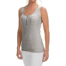 Lafayette 148 New York Henley Tank Top (For Women) in Light Nickel - Closeouts