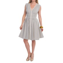 Lafayette 148 New York Hodo Cotton Dress - Sleeveless (For Women) in Raffia Multi - Closeouts