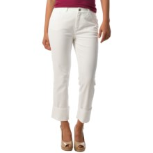 Lafayette 148 New York Italian Denim Curvy Cuffed Cropped Jeans (For Women) in White - Closeouts