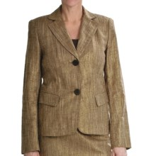 Lafayette 148 New York Jamison Golden Jacket - Linen-Cotton Basket Weave (For Women) in Multi - Closeouts