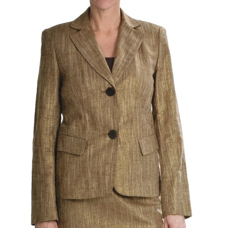 Lafayette 148 New York Jamison Golden Jacket - Linen-Cotton Basket Weave (For Women) in Multi