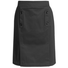 Lafayette 148 New York Jody Skirt - Cotton Sateen (For Women) in Black - Closeouts