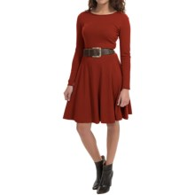 Lafayette 148 New York Knit Dress - Long Sleeve (For Women) in Auburn - Closeouts
