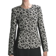 Lafayette 148 New York Leon Majestic Leopard Jacket - Jacquard (For Women) in Black Multi - Closeouts