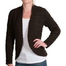 Lafayette 148 New York Lexus Cutaway Cardigan Sweater - Wool (For Women) in Sable - Closeouts