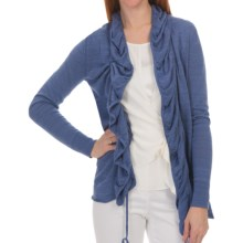 Lafayette 148 New York Lino Cardigan Sweater - Cotton-Linen (For Women) in Tile Blue - Closeouts