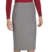 Lafayette 148 New York Lola Wool Skirt - Optical Crepe (For Women) in Black Multi - Closeouts