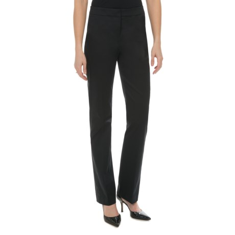Lafayette 148 New York Luxe Cotton Sateen Pants (For Women) in Black