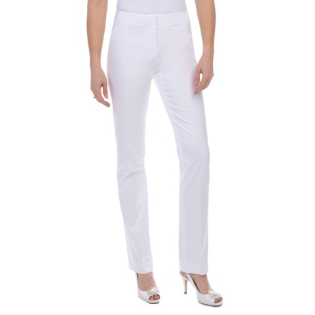 Lafayette 148 New York Luxe Cotton Sateen Pants (For Women) in White