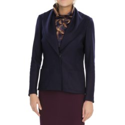 Lafayette 148 New York Luxe Jacket - Boiled Wool Blend (For Women) in Midnight