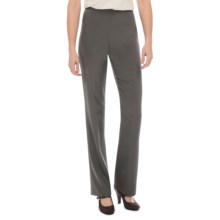 Lafayette 148 New York Luxe Stretch Crepe De Chine Pants (For Women) in Shale - Closeouts