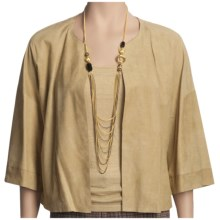 Lafayette 148 New York Mandy Jacket - Suede, 3/4 Sleeve (For Women) in Hemp - Closeouts