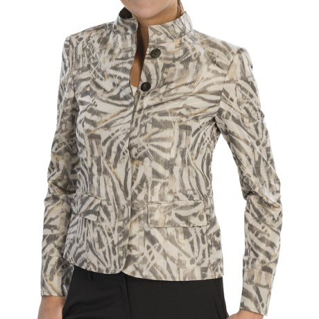 Lafayette 148 New York Marley Jacket (For Women) in Shale Multi