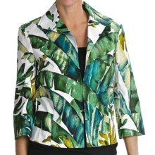Lafayette 148 New York Marlo Jacket - 3/4 Sleeve (For Women) in Grass Multi - Closeouts