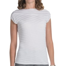 Lafayette 148 New York Mirror Knit Sweater - Short Sleeve (For Women) in White - Closeouts