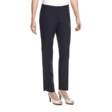 Lafayette 148 New York Modern Contemporary Pants - Stretch Wool, Slim Leg (For Women) in Navy - Closeouts