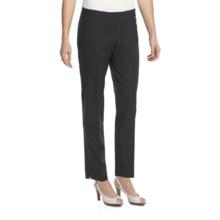 Lafayette 148 New York Modern Contemporary Pants - Stretch Wool, Slim Leg (For Women) in Smoke - Closeouts