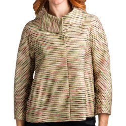 Lafayette 148 New York Novelty Gisella Topper Jacket (For Women) in Stone Multi