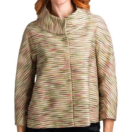 Lafayette 148 New York Novelty Gisella Topper Jacket (For Women) in Stone Multi