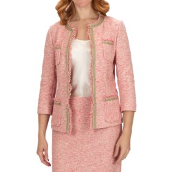 Lafayette 148 New York Novelty Palermo Jacket - 3/4 Sleeve (For Women) in Khaki Multi