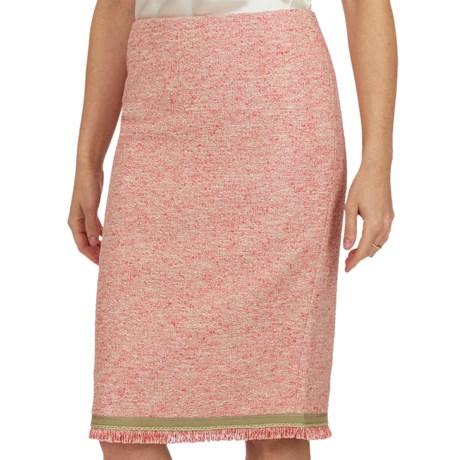 Lafayette 148 New York Pampano Modern Slim Skirt (For Women) in Khaki Multi