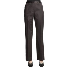 Lafayette 148 New York Pants - Glossy Suiting (For Women) in Espresso - Closeouts