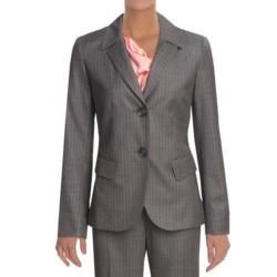 Lafayette 148 New York Pinstripe Jacket - Wool (For Women) in Dark Nickel Multi