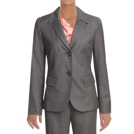 Lafayette 148 New York Pinstripe Jacket - Wool (For Women) in Dark Nickel Multi