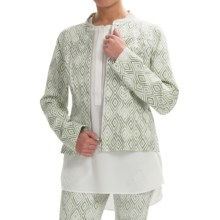 Lafayette 148 New York Printed Twill Jacket - Zip Front (For Women) in Thyme Multi - Closeouts