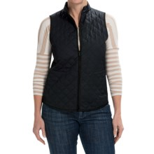 Lafayette 148 New York Quilted Vest - Zip Front (For Women) in Navy - Closeouts