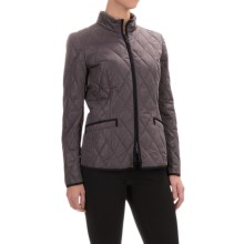 Lafayette 148 New York Quilted Zip-Front Jacket (For Women) in Cinder - Closeouts