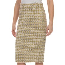 Lafayette 148 New York Ravenna Weave Slim Skirt (For Women) in Cloud Multi - Closeouts