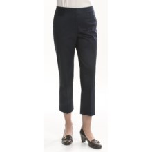 Lafayette 148 New York Reba Ankle Pant - Stretch Cotton (For Women) in Navy - Closeouts