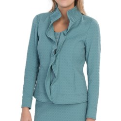 Lafayette 148 New York Regine Elite Octagon Jacket (For Women) in Bay Mist