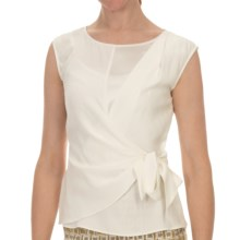 Lafayette 148 New York Rina Shirt - Matte Silk, Sleeveless (For Women) in Cloud - Closeouts