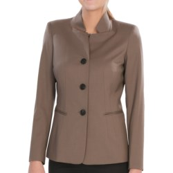 Lafayette 148 New York Rosen Jacket - Stretch Italian Wool (For Women) in Nougat