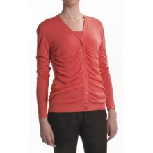 Lafayette 148 New York Shirred Front Cardigan Sweater (For Women) in Bellini - Closeouts