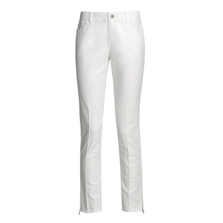 Lafayette 148 New York Skinny Pants - 5-Pocket, Ankle Zip (For Women) in White