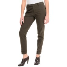 Lafayette 148 New York Slim Cuff Pants - Extended Tab Waistband (For Women) in Pine - Closeouts