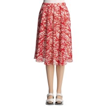 Lafayette 148 New York Spring Daisy Skirt - Crinkled Print (For Women) in Flame Multi - Closeouts