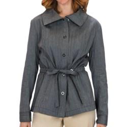 Lafayette 148 New York Static Stripe Jacket - Stretch Cotton (For Women) in Black Multi