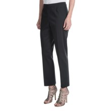 Lafayette 148 New York Stretch Cotton Sateen Ankle Pants (For Women) in Black - Closeouts