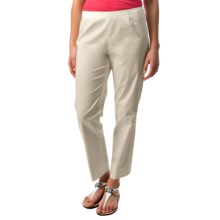 Lafayette 148 New York Stretch Cotton Sateen Ankle Pants (For Women) in Raffia - Closeouts
