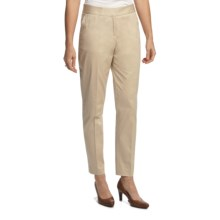 Lafayette 148 New York Stretch Sateen Pants - Slim Leg (For Women) in Stone - Closeouts