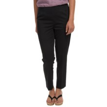 Lafayette 148 New York Twill Ankle Pants - Cotton-Sateen (For Women) in Black - Closeouts
