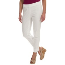 Lafayette 148 New York Twill Ankle Pants - Cotton-Sateen (For Women) in White - Closeouts