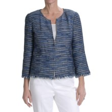 Lafayette 148 New York Verona Jacket - 3/4 Sleeve (For Women) in Nublue Multi - Closeouts